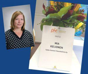 Palkanlaskijamme Mia Keijonen on suorittanut PHT-tutkinnon