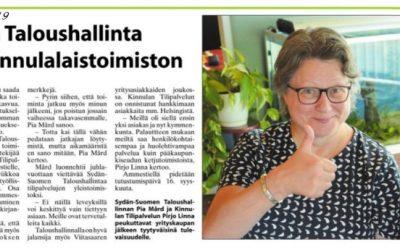 Sydän-Suomen Taloushallinta  ja Kinnulan Tilipalvelu yhdistivät voimavaransa